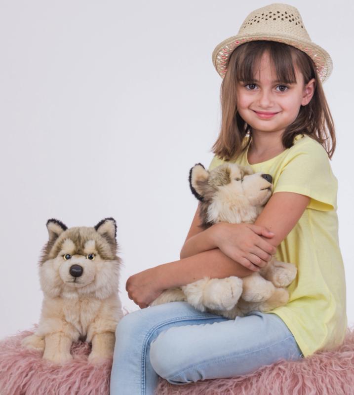 Wolf sitzend 29 cm Teddy Hermann